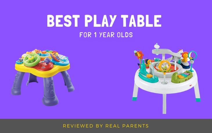 our top 3 choices of play table for 1 year olds