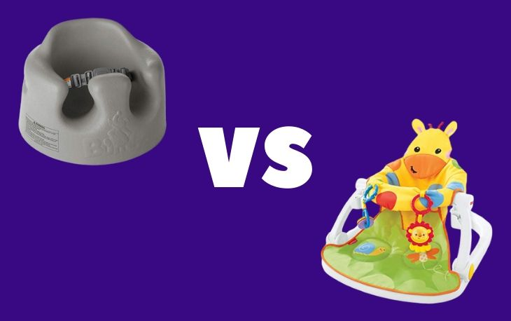 Image of the bumbo seat vs sit me up